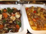 Lamb (left)' Beef {right)